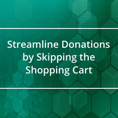 Streamline donations